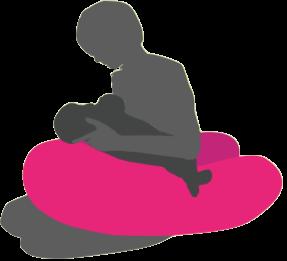 授乳サポートのヨギボーソファー