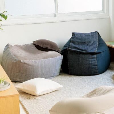 無印良品人をダメにするソファ「体にフィットするソファ」のデニム素材カバー