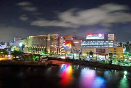 ヨギボーキャナルシティ博多店の夜景