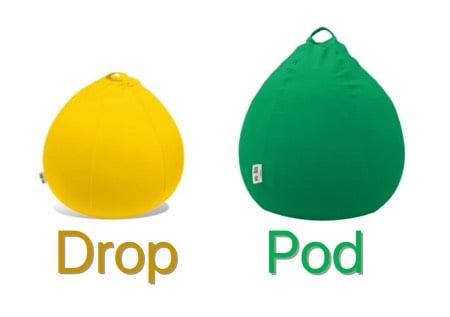 ヨギボードロップとヨギボーポッド(Yogibo Pod)の比較