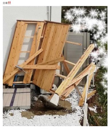 東MAXの千葉の別荘台風の影響