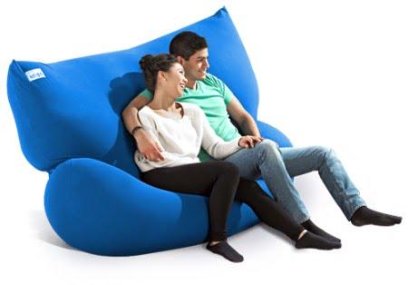 ヨギボーダブルを2人でソファとして使う