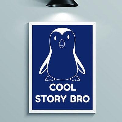 ヨギボーウォールアート(ペンギン,penguin)