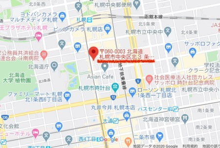 Yogibostore大同生命札幌ビル miredo駅からのアクセス