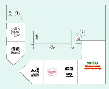 Yogibostore大同生命札幌ビルのフロアマップ