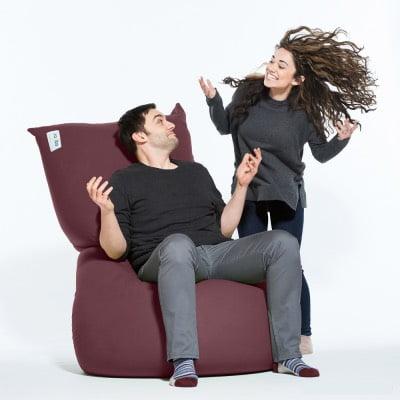 椅子として使うヨギボーマックス(Yogibo Max)ディープパープル