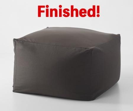 無印良品「体にフィットするソファ用補充クッション」の使い方(完成)