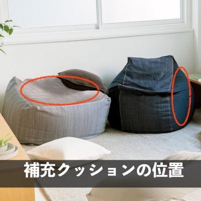 無印良品「体にフィットするソファ用補充クッション」の位置(縦置き・通常置きの違い)