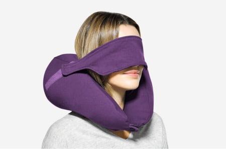 アイマスク一体型「ヨギボーネックピローX(エックス)」パープル